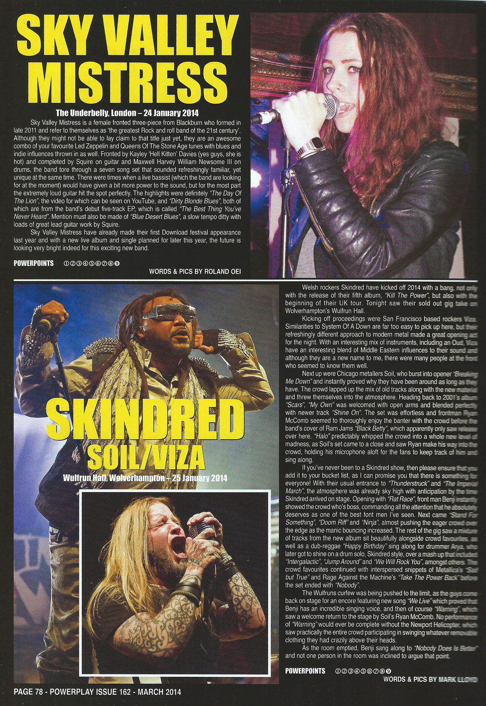 PowerPlay Magazine - Skindred Live Review and Photos