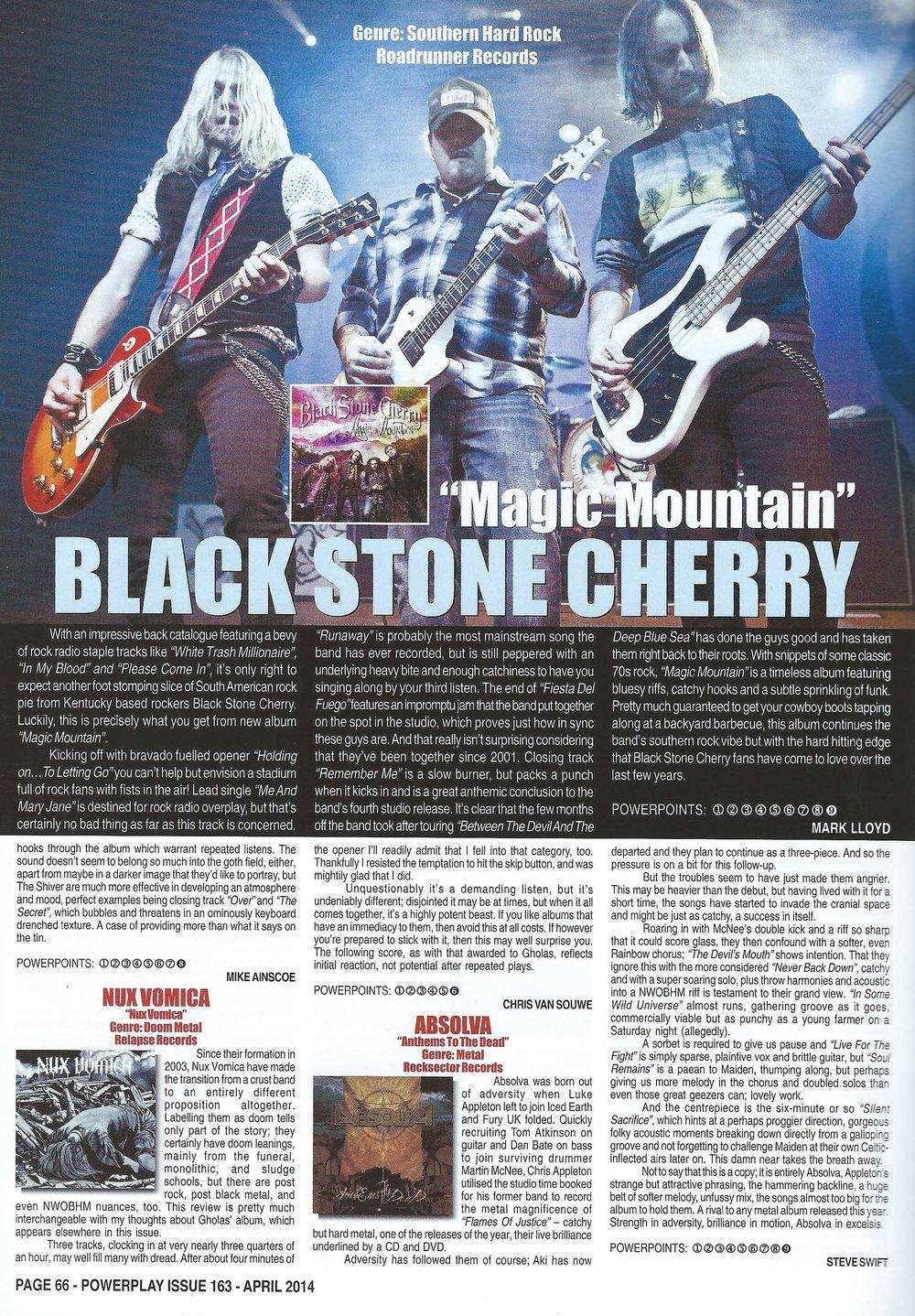 PowerPlay Magazine - Black Stone Cherry Album Review