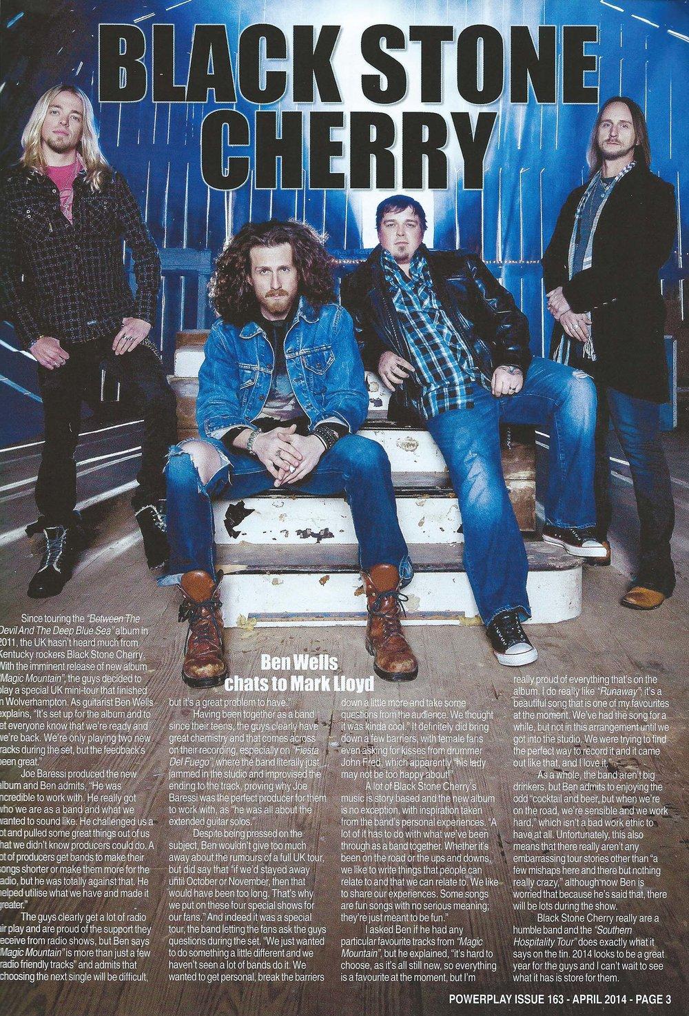 PowerPlay Magazine - Black Stone Cherry Interview