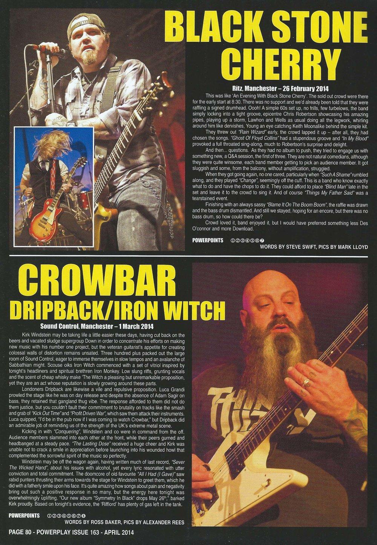 PowerPlay Magazine - Black Stone Cherry Live Review and Photos