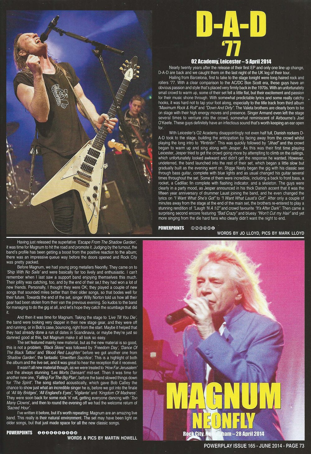 PowerPlay Magazine - D.A.D Live Review and Photos