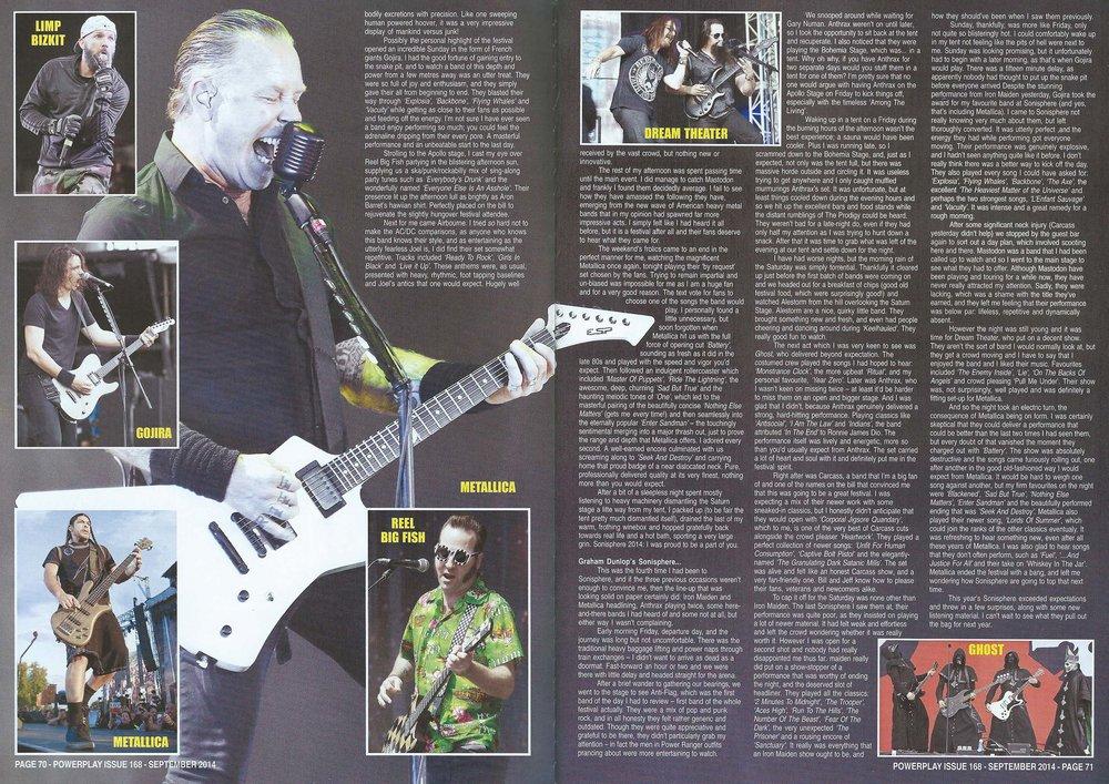 PowerPlay Magazine - Sonisphere Festival Photos