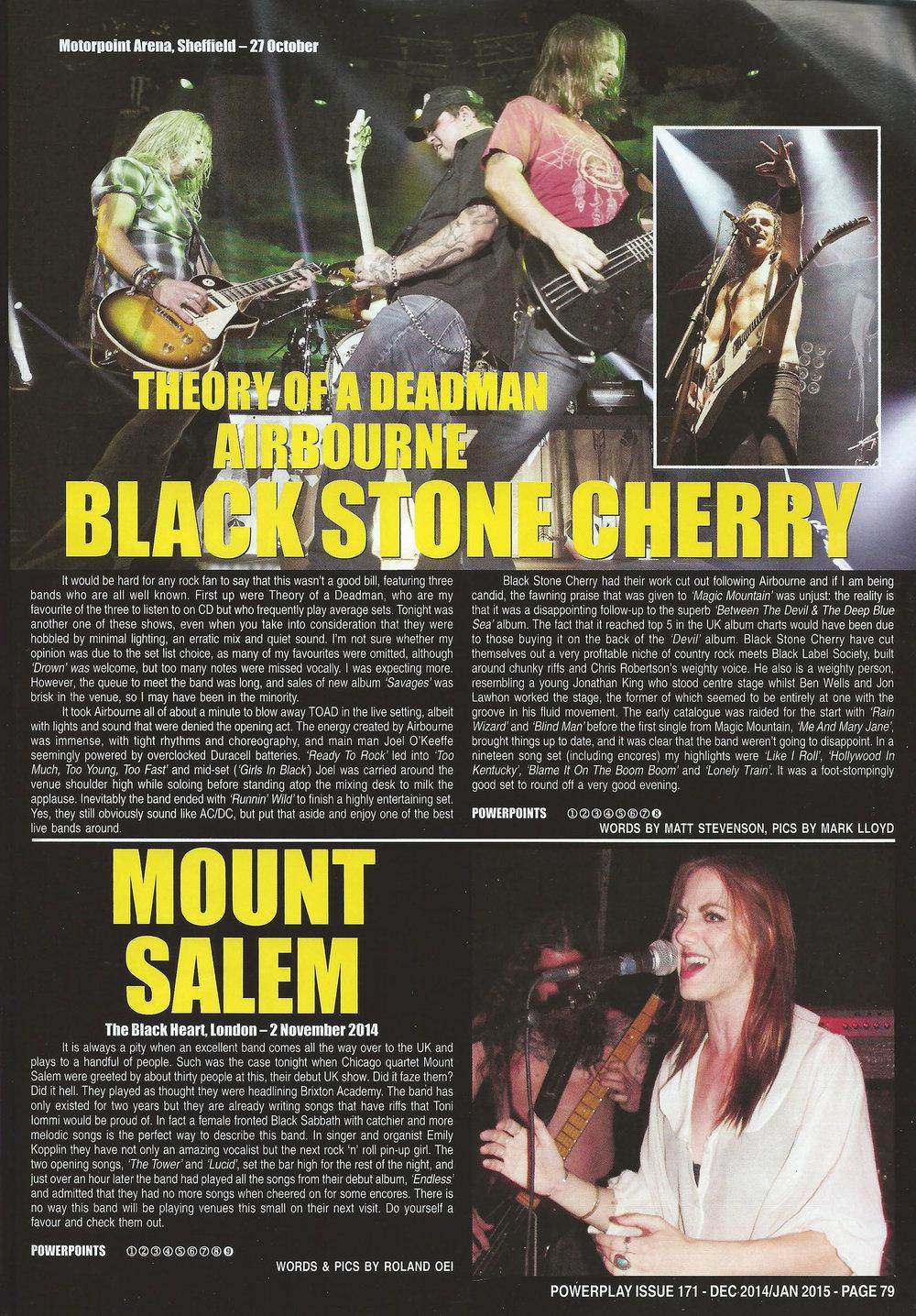 PowerPlay Magazine - Black Stone Cherry Photos