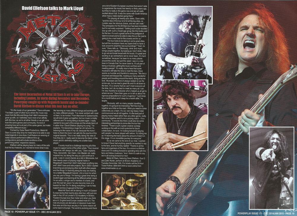 PowerPlay Magazine - Interview with Dave Ellefson
