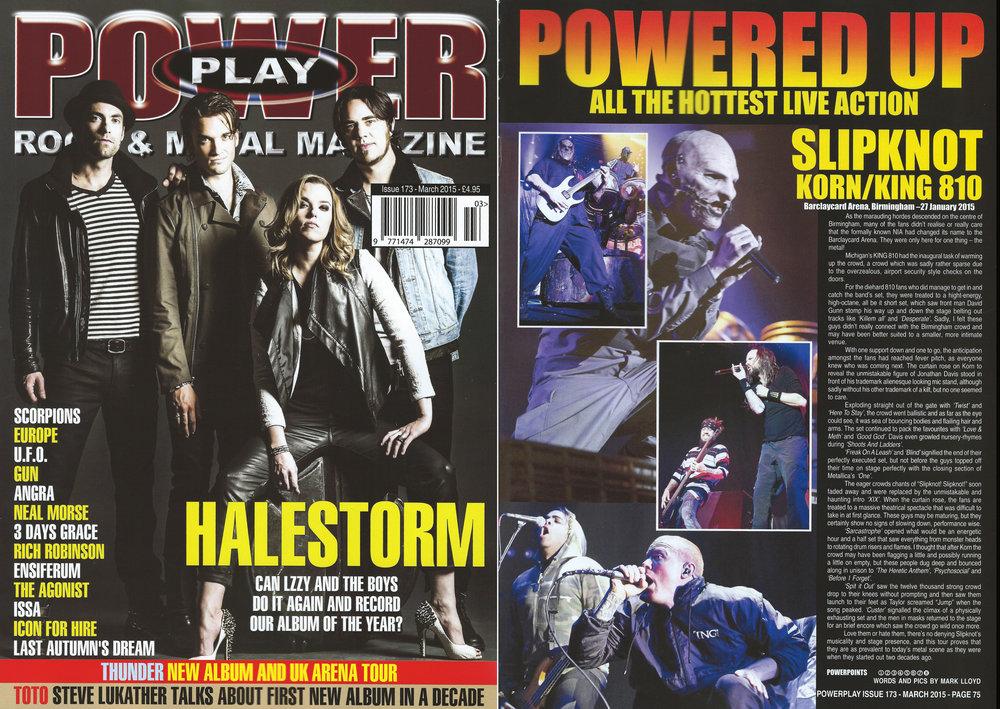 PowerPlay Magazine - Slipknot Live Review and Photos