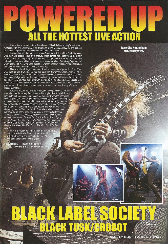 PowerPlay Magazine - Black label Society Photos