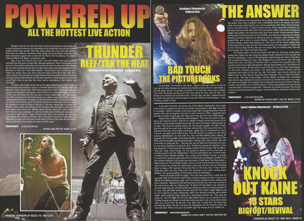 PowerPlay Magazine - Thunder Live review and Photos