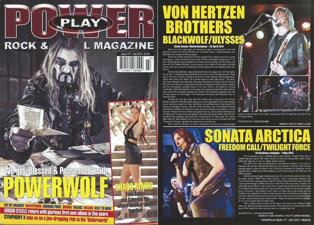 PowerPlay Magazine - Von Hertzen Brothers photo