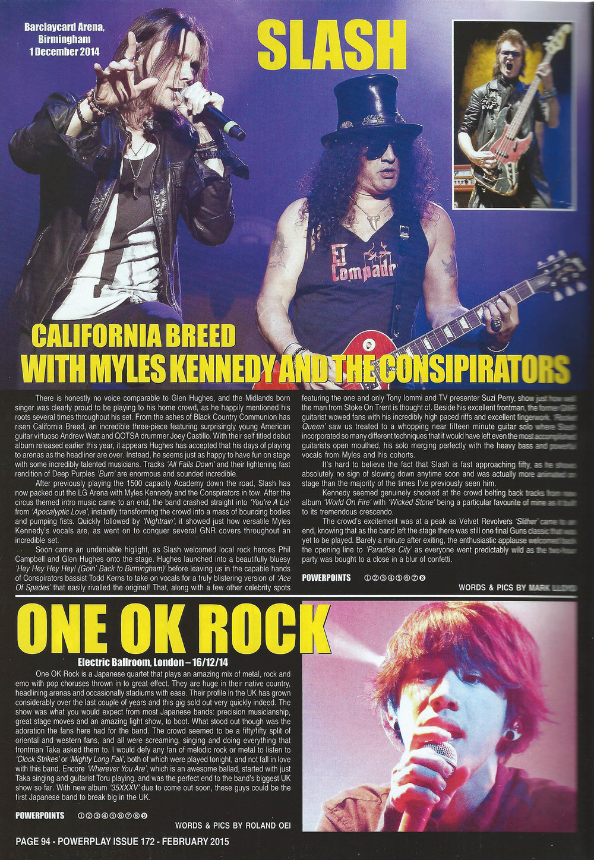 PowerPlay Magazine - Slash Live Review and Photos