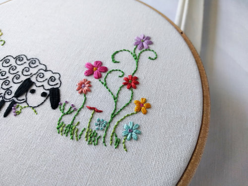 Buttercup Sheep Iron On Transfer Hand Embroidery Pattern