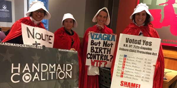 Handmaid Coalition: Handmaids Unite - Illinois - Indivisible Illinois