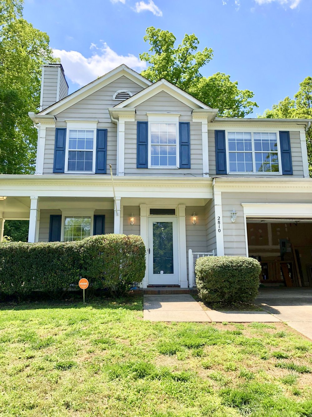 INVESTOR SPECIAL IN NORTH CHARLOTTE - Perfect home for a first time homebuyer or investor! 3 bed 2 1/2 baths on a large, private, fenced cul-de-sac lot! Dining room was converted into office/flex space off the kitchen. New roof in 2016, AC unit approx 1 year old! Two car garage, wrap around front porch, brand new carpet and fresh paint. NO HOA!! Home is being sold AS-IS, seller will not make additional repairs. Ideal location with easy access to highways, uptown, Northlake Mall, Latta Plantation and minutes to the new Oakdale Rd. exit on 485! Come make this house your HOME