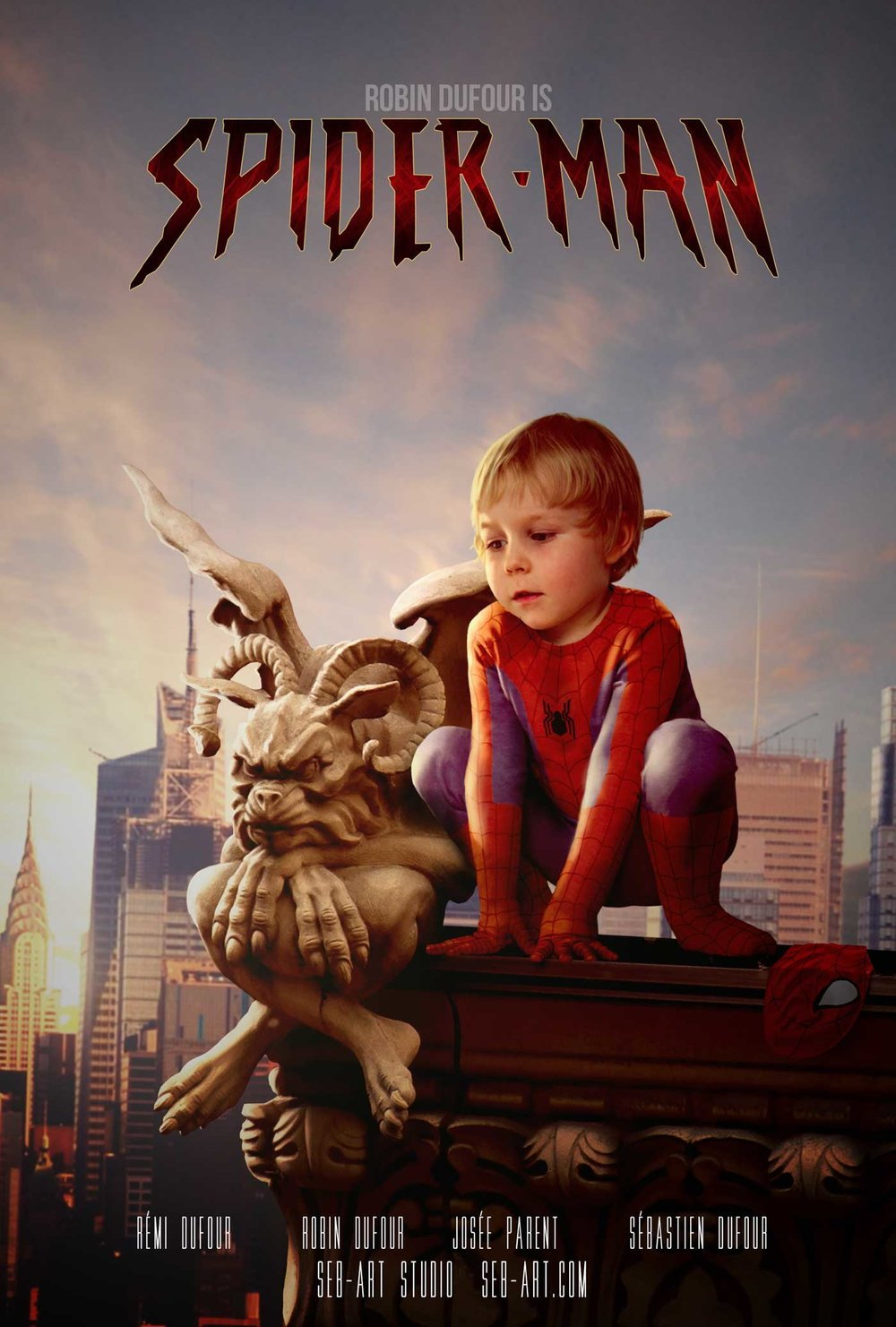 Superhero son Spiderman - Fils superhéro Spiderman