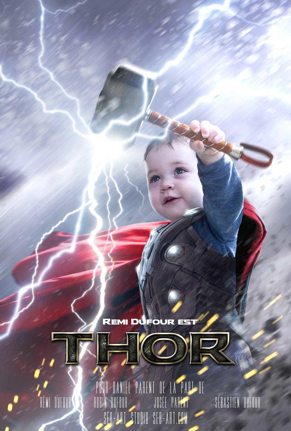 Superhero son Thor - Fils superhéro Thor