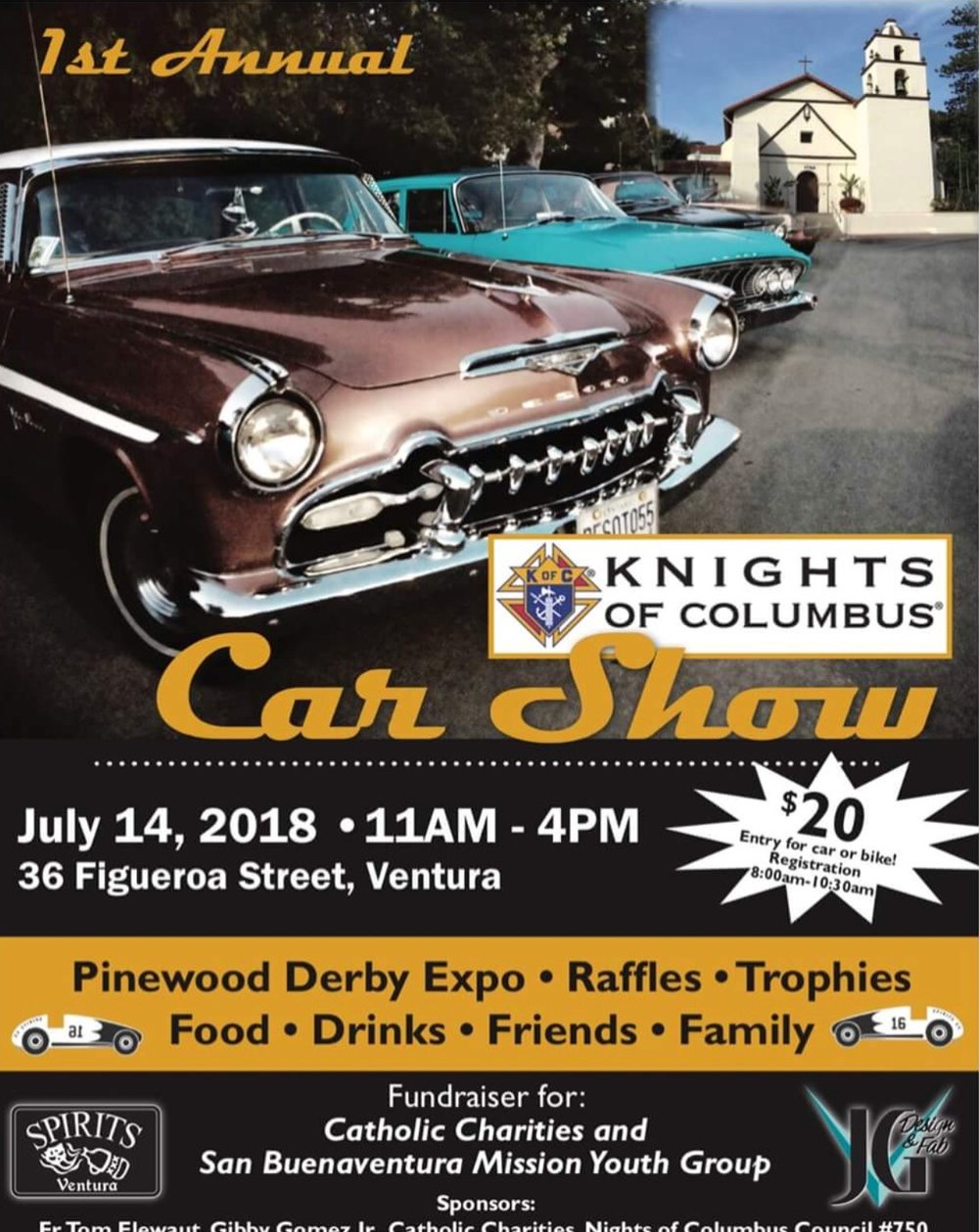 Events Knights On Bikes California - San gabriel mission car show