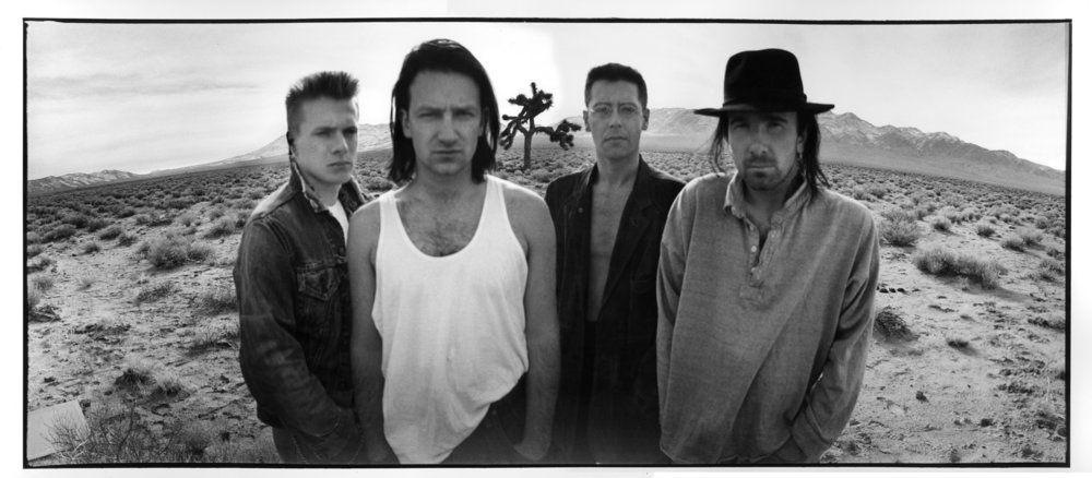 U2, circa  The Joshua Tree  |photo by Anton Corbijn