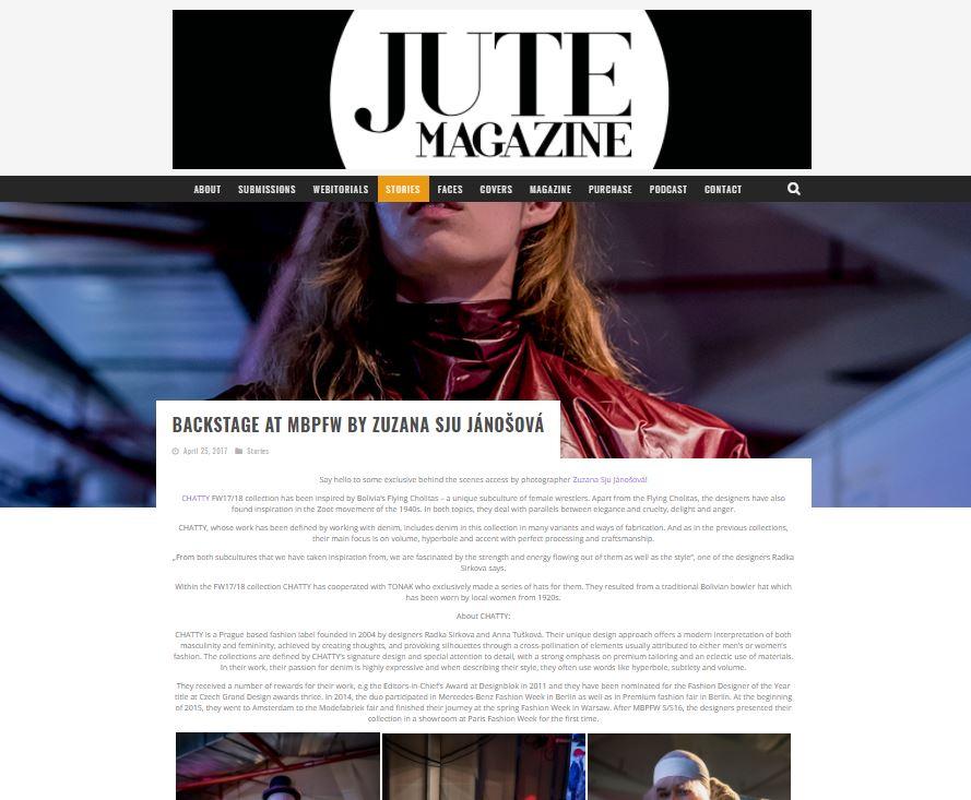 JUTE MAGAZINE - MBPFW AW17 Backstage