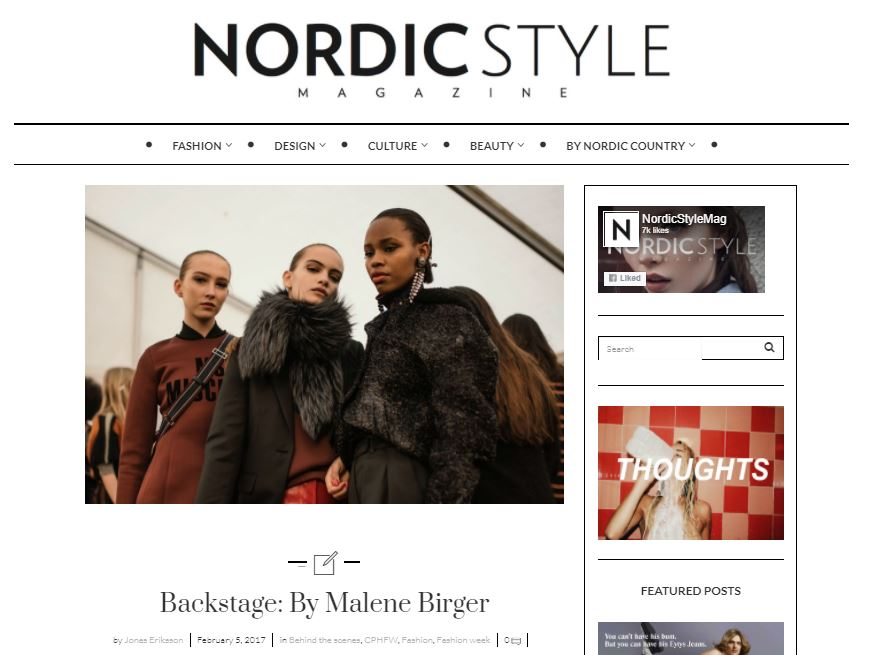 Nordic Style Magazine - By Malene Birger AW17 Backstage