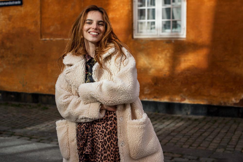 Monki jacket // Baum und Pferdgarten shirt // Ganni skirt