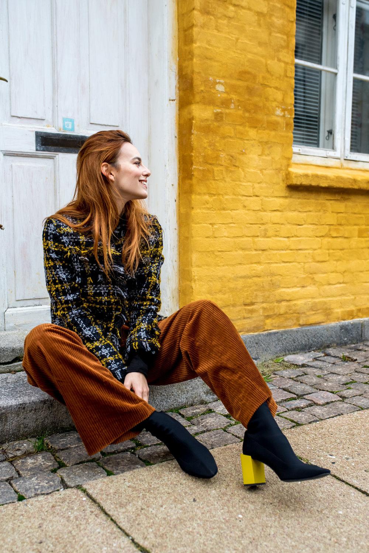H&M Erdem jacket // H&M pants // Mango boots