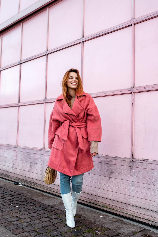 House of Sunny coat // Mango boots // vintage bag