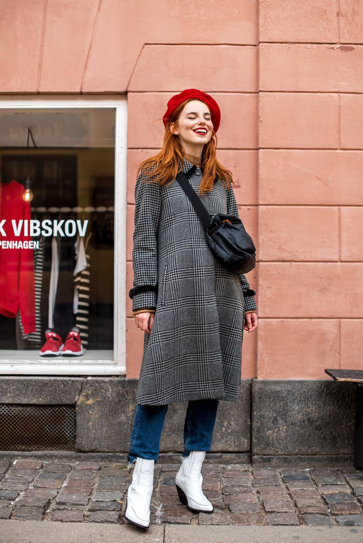 Kopenhagen fur coat // Mads Norgaard bag // vintage hat
