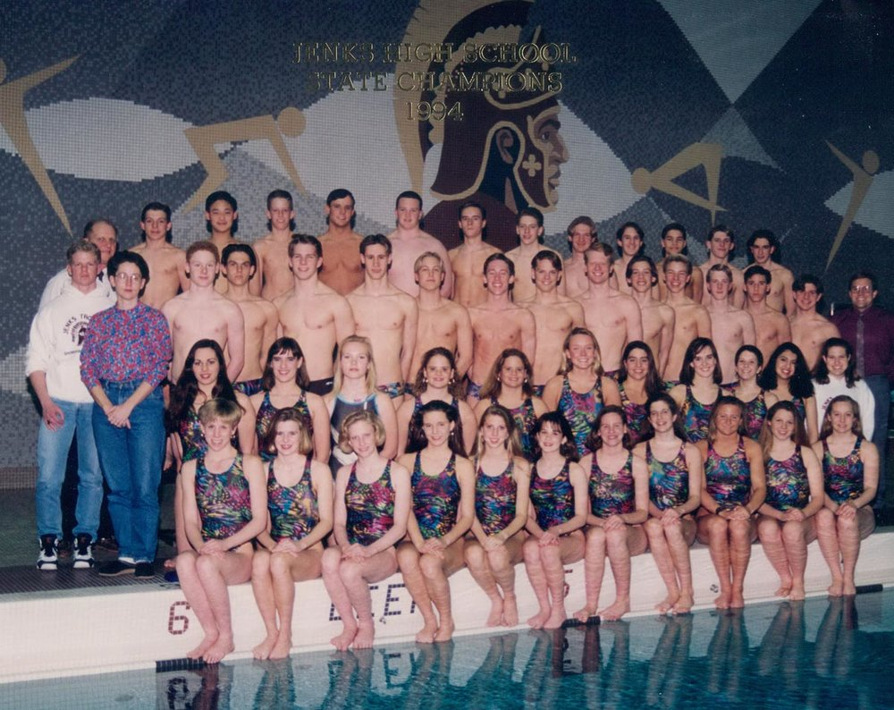 I was captain of the men's swim team my senior year of high school. (1994)