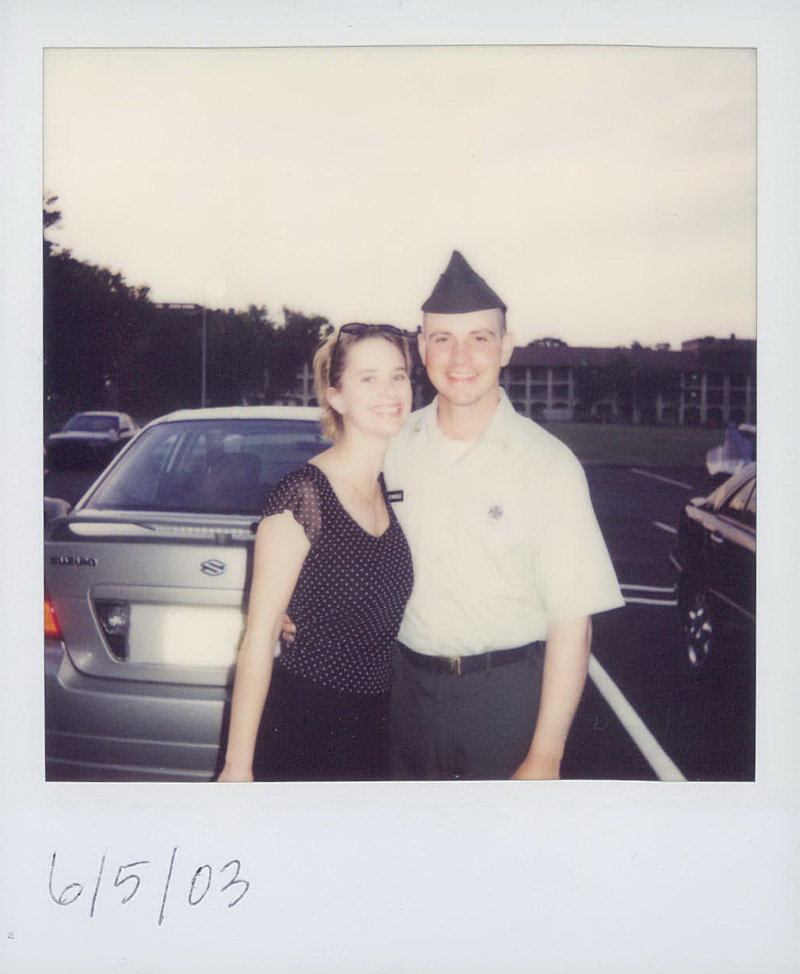 My wife (girlfriend at the time) Megan and I at Basic Training graduation, before I went on to AIT. When I got home in August, I learned I was shipping out to Kosovo.