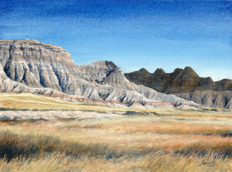 "Saddle Pass Area  watercolor : 9 x 12"" : print $75 : original available"