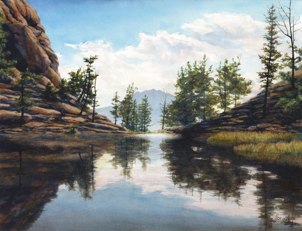 "Gem Lake, Rocky Mountain National Park  watercolor  :  13 x 17""  :  print $140  :  original available"