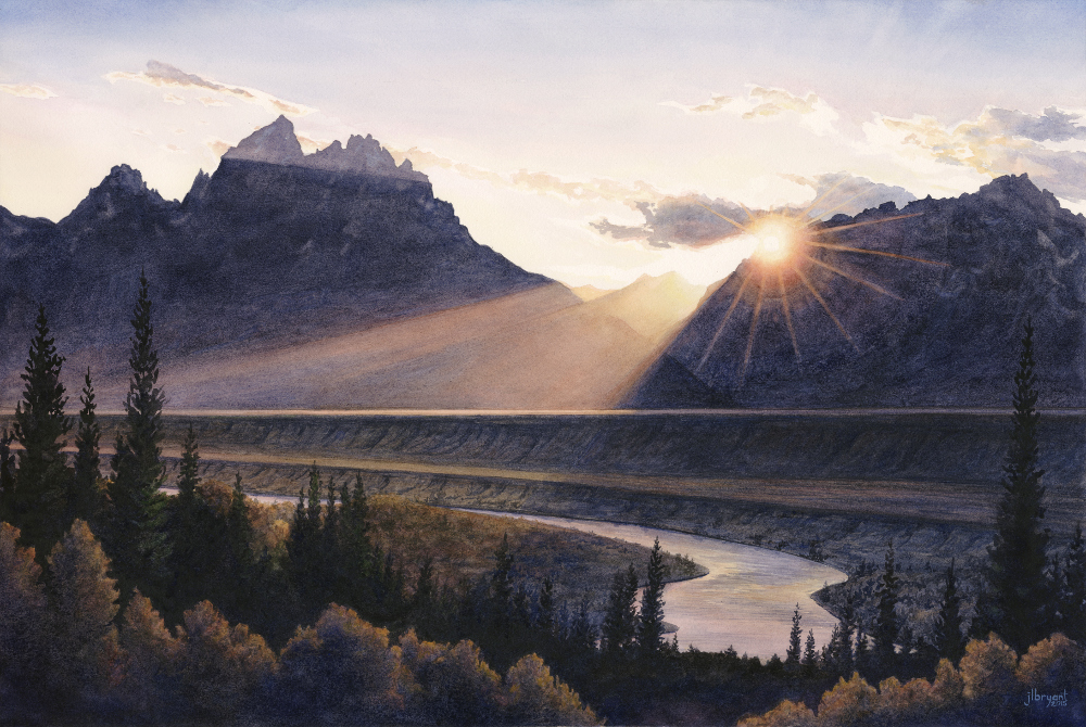 "Snake River, Grand Teton National Park  watercolor  :  16 x 24""  :  print $250  :  original available"