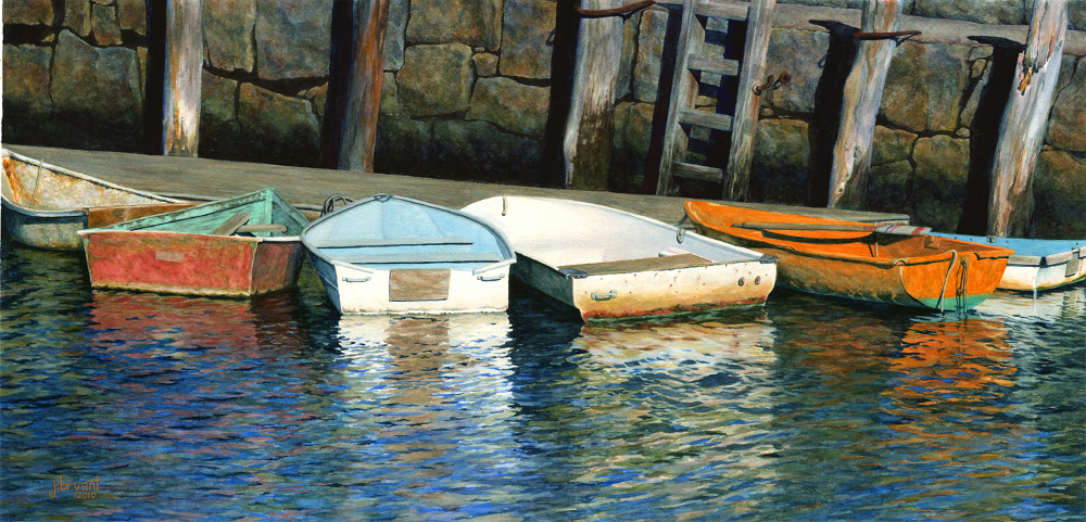 "Rockport Bay  watercolor  :  14 x 29""  :  print $200  :  original sold"