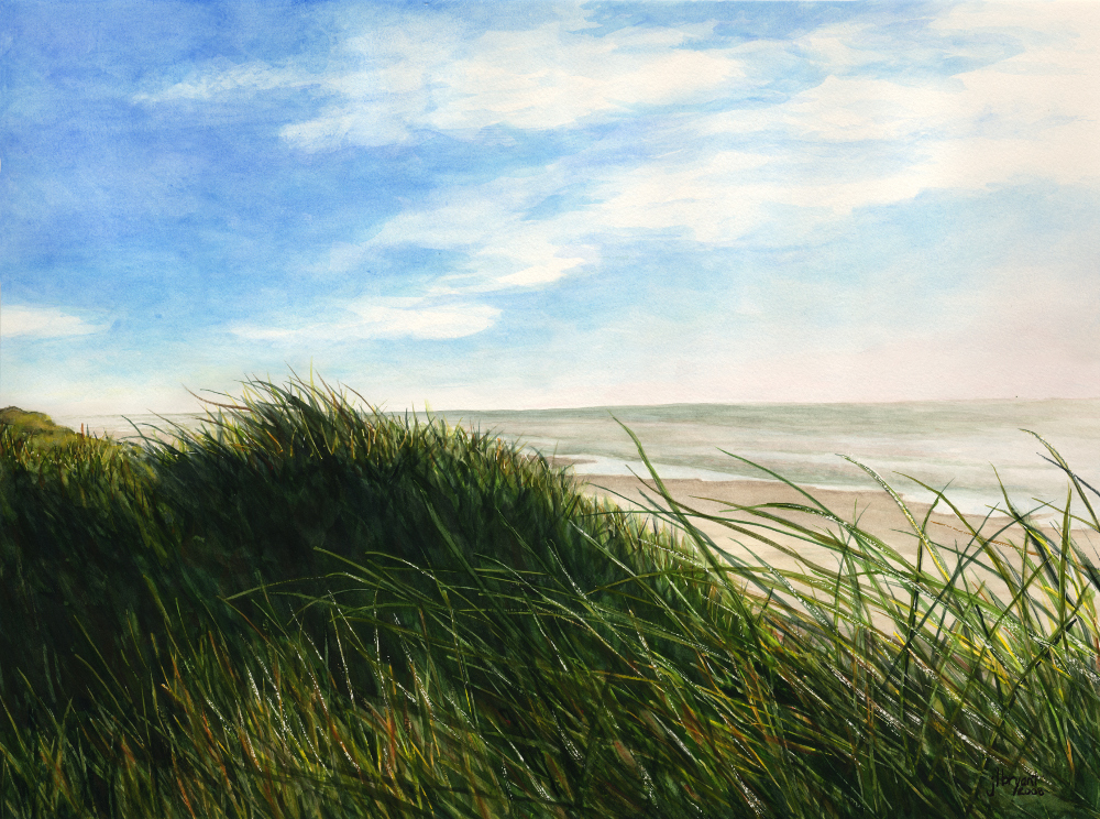 "Oregon Dunes  watercolor  :  12 x 16""  :  print $200  :  original NFS"