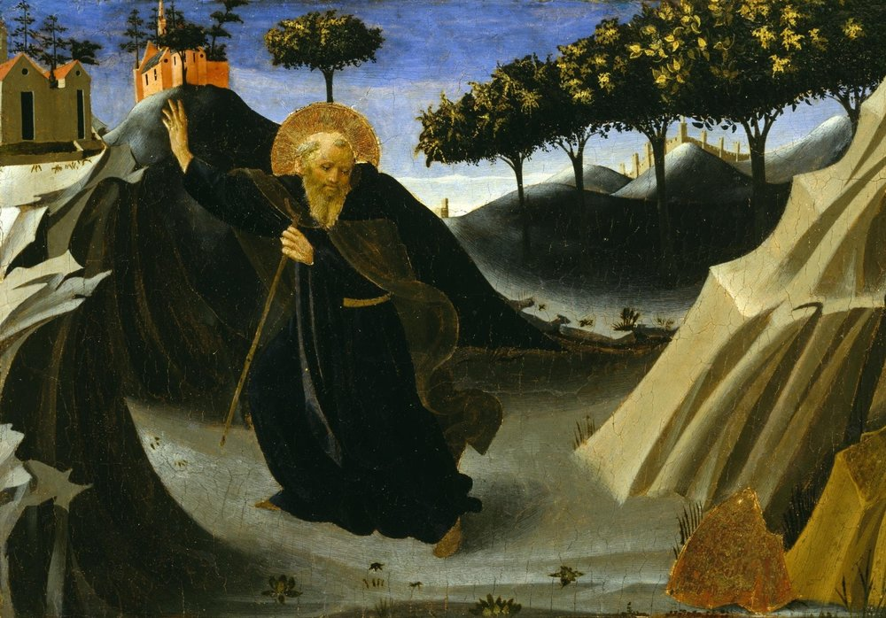 Saint Anthony the Abbot Tempted by a Lump of Gold, Fra Angelico (1436)