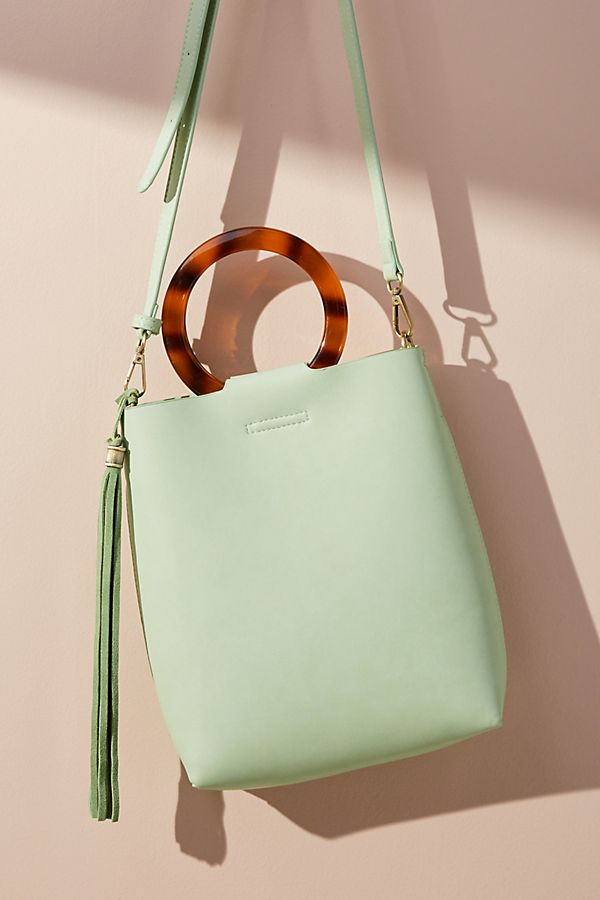 Lucite-Handled Tote Bag - Anthropologie