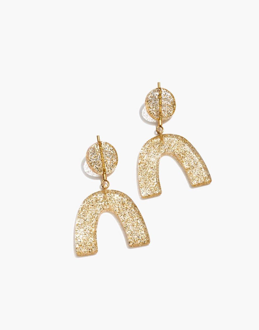 Glitter Shapes Statment Earrings - Madewell