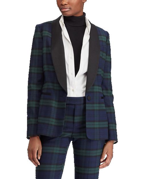 Tartan Wool-Blend Blazer - Ralph Lauren