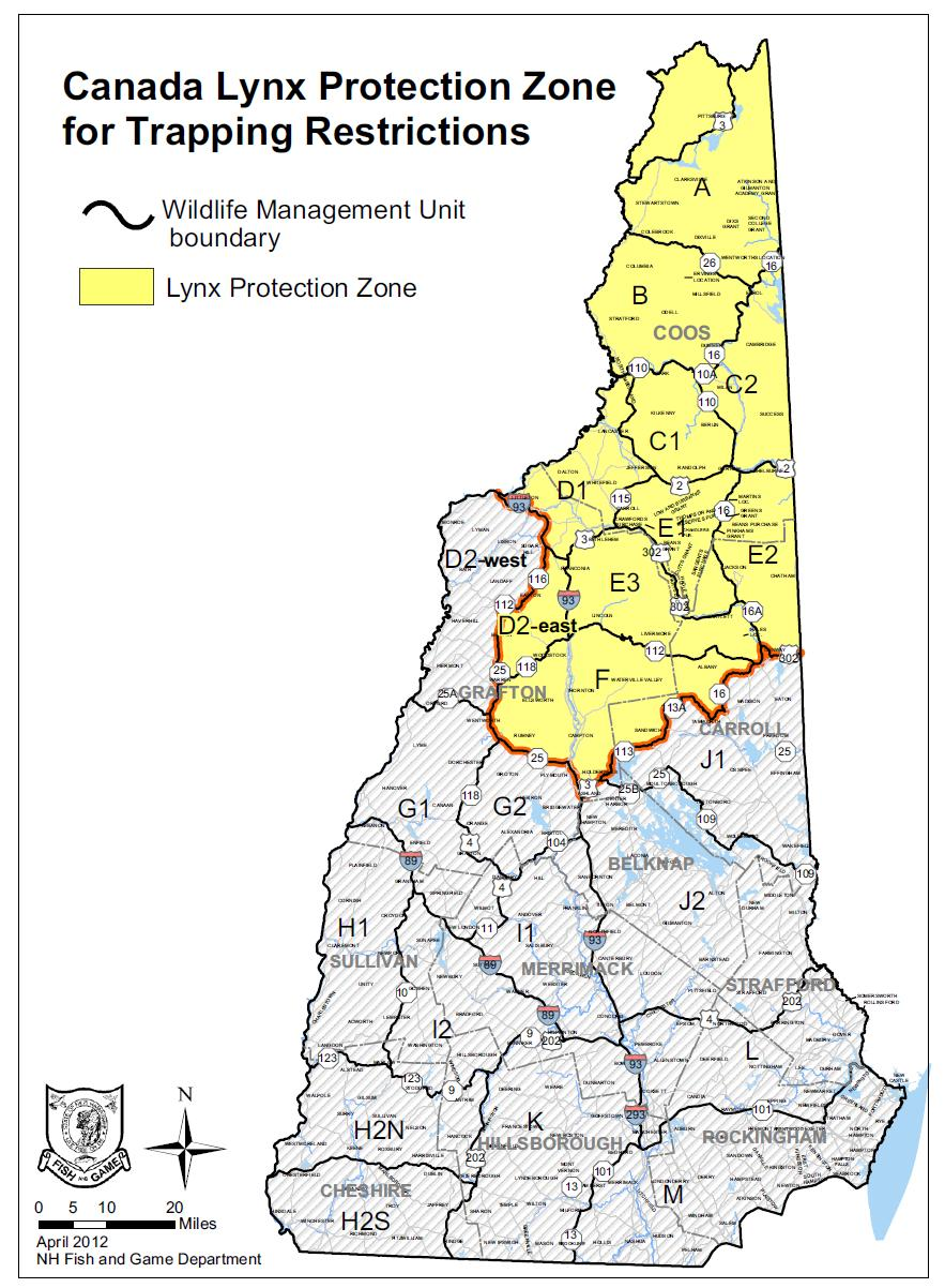 The Lynx protection zones already currently in place, and developed by NHF&G.