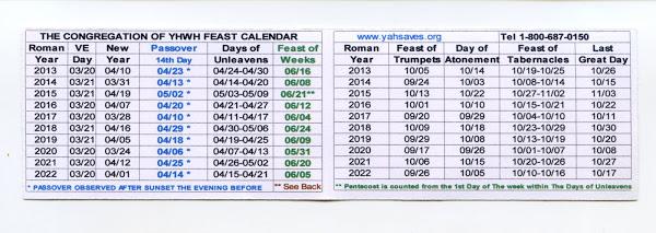 2013-22 Calendar Card
