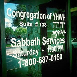 Congregation of YHWH - 224 N. Story, Suite #138Irving, TX75061          P.O. Box 170309Dallas, TX75217-0309 Church Building.............972-986-5284Message Center.........1-800-687-0150