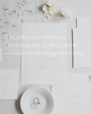 The Difference Between Pre Designed Semi Cusom And Custom Wedding