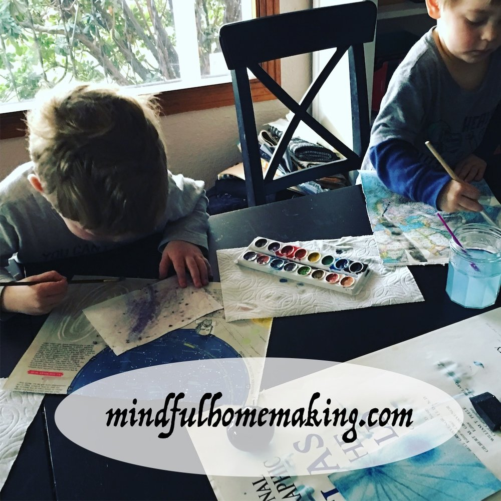 toddlers and watercolors