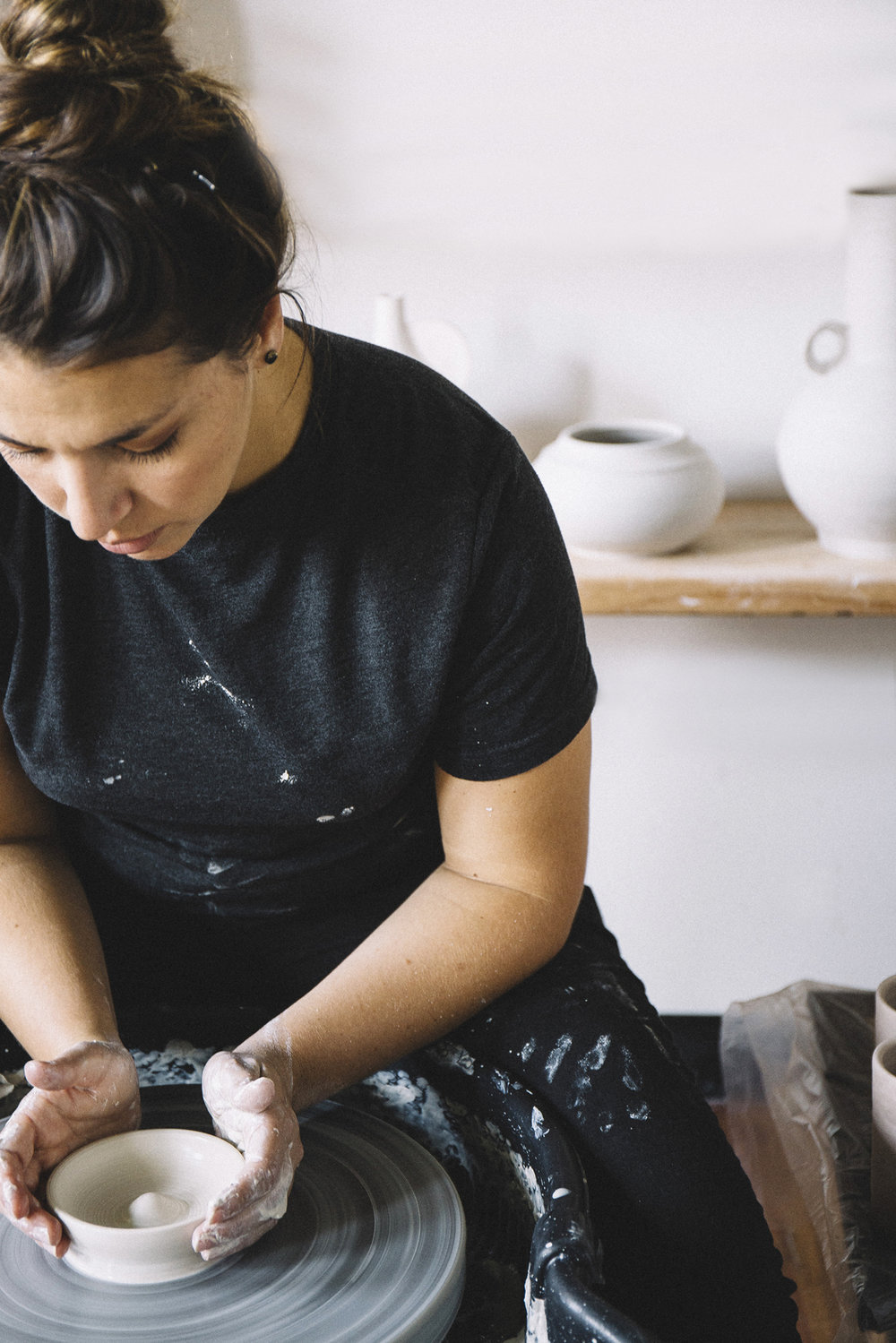 CAMPFIRE STUDIO - --Meet potter, gal pal, and boss babe Kristen Camp.Kristen is the Founder + Design Director of Campfire Studio; a contemporary ceramic and floral studio. The studio is located in a historic brick mill building in Westbrook, ME. Originally a Georgia native, Kristen and her husband have crafted a new life in Maine and have become widely known for their unique product assortment,high-end housewares, one-of-a-kind Raku designs,and sweet Southern charm.