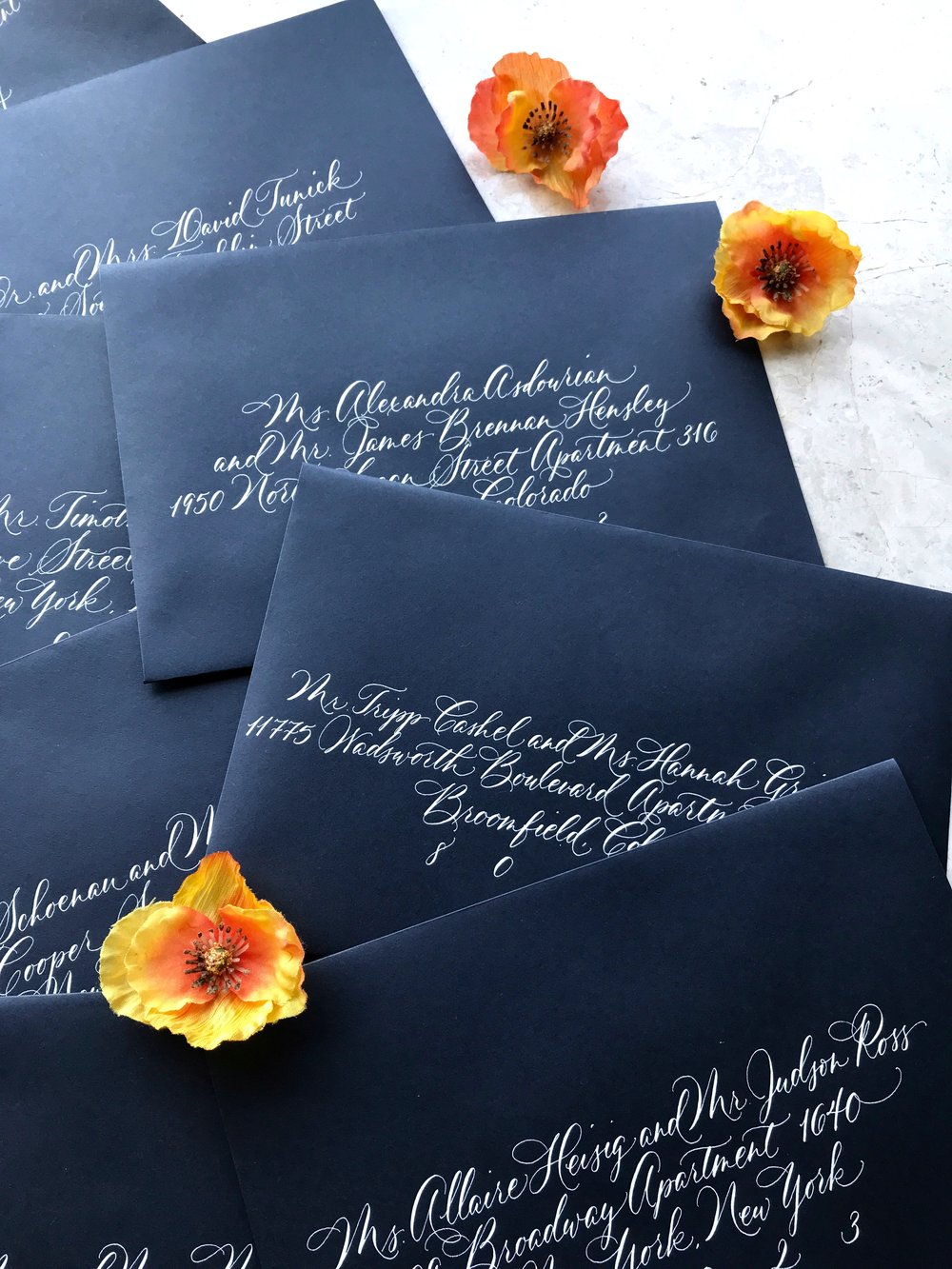 A seasoned calligrapher - may have their calendar booked 3-6 months in advance or more…