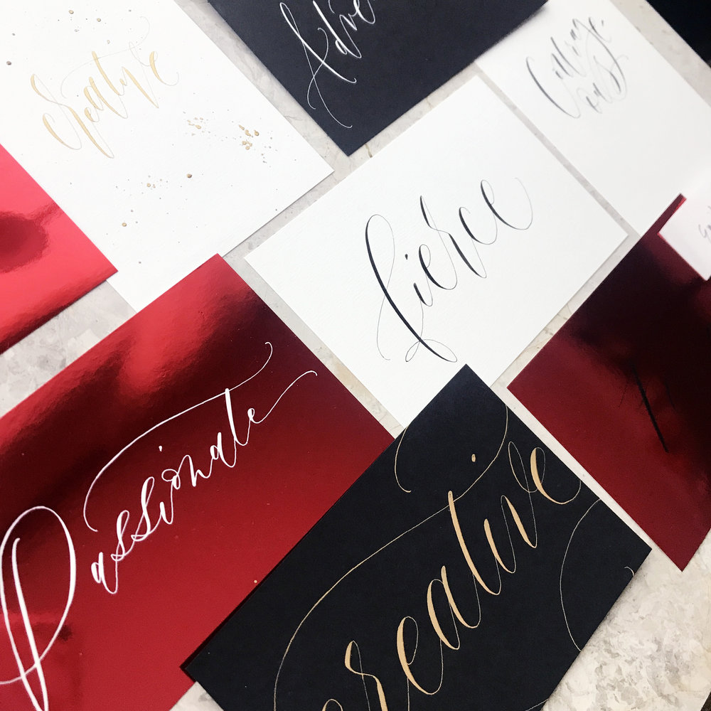 Female Power - Guests were invited to name their word or phrase to be lettered live and framed at the event