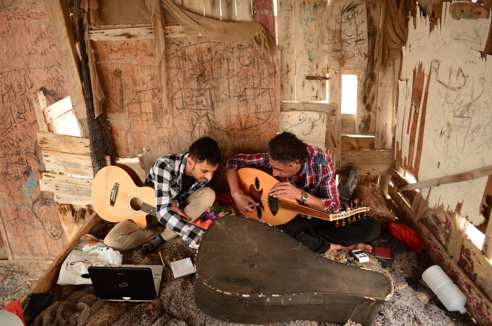 Essam al-Akhfash with Ahmed Shiekh playing Oud. 2015