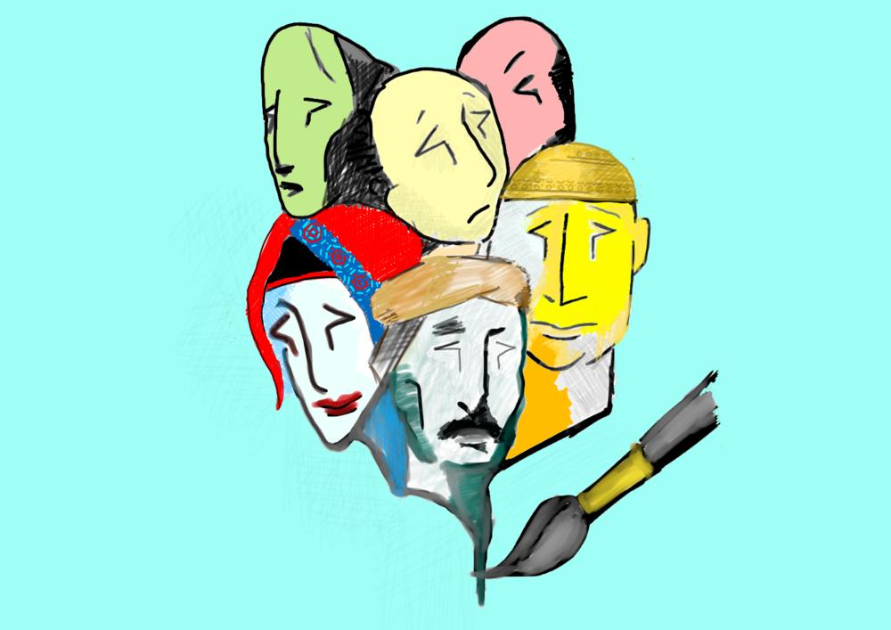 الرسومات التوضيحية من قبل ذي يزن العلوي