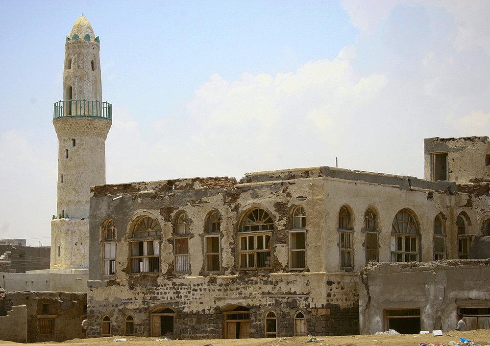 دفنت الرمال أغلب الطوابق الاولى من مباني حي مسجد الرحمة التاريخي, ايرك لافورجي