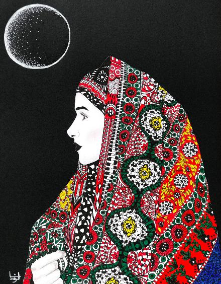 Art work courtesy of Lona al-Wadie