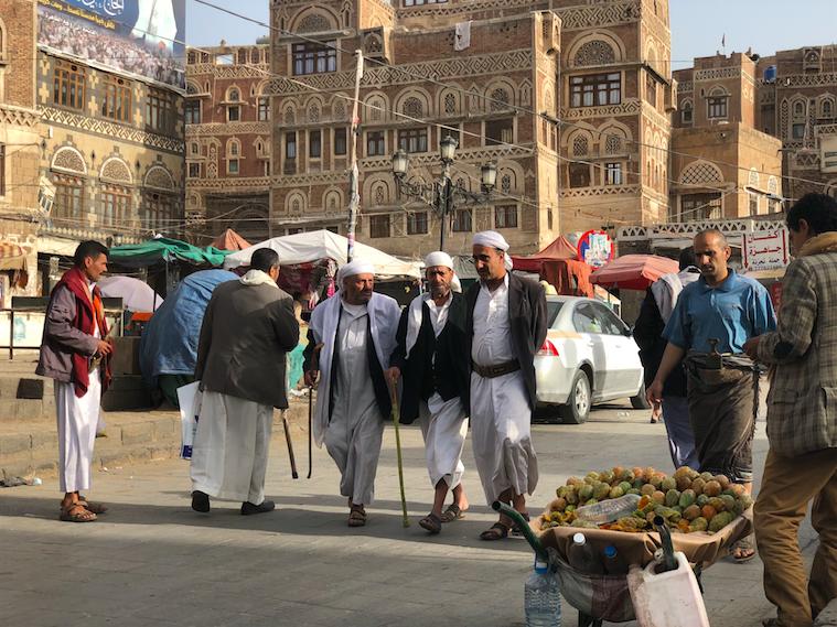 احدى الصور التي التقطها يوسف خلال زيارته لصنعاء